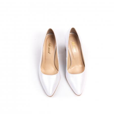 Pantofi dama Nike Invest 322 piele naturala, alb sidef5