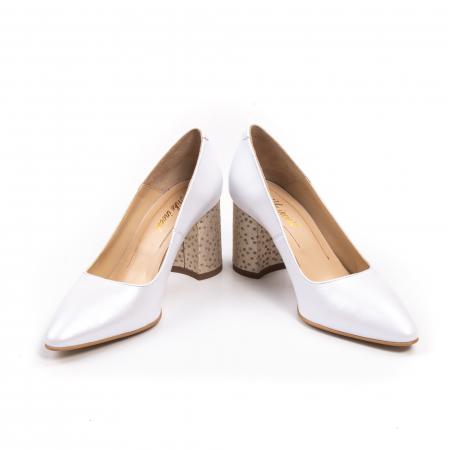 Pantofi dama Nike Invest 322 piele naturala, alb sidef4