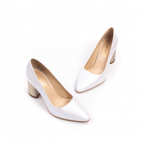 Pantofi dama Nike Invest 322 piele naturala, alb sidef1