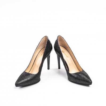 Pantofi dama piele naturala peliculizata Nike Invest 329-ngnl, negru lucios4