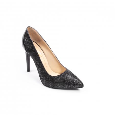 Pantofi dama piele naturala peliculizata Nike Invest 329-ngnl, negru lucios0