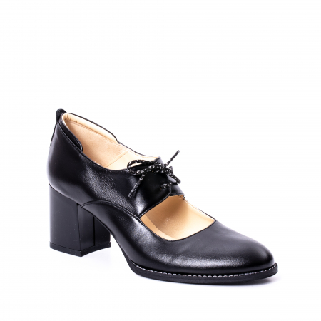 Pantofi dama piele naturala Nike Invest 327, negru0