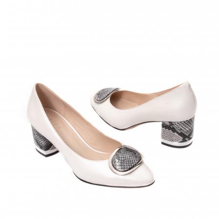 Pantofi dama piele naturala Epica W85 alb/snacke5