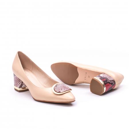 Pantofi dama piele naturala Epica W85 nude/snacke2