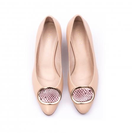 Pantofi dama piele naturala Epica W85 nude/snacke4