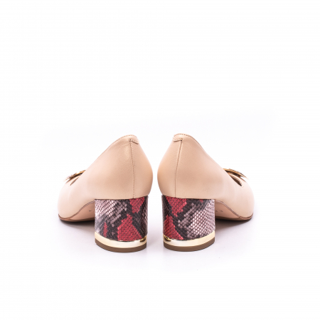 Pantofi dama piele naturala Epica W85 nude/snacke5