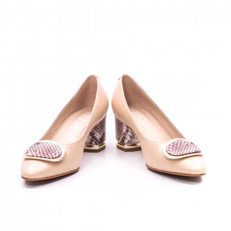 Pantofi dama piele naturala Epica W85 nude/snacke3