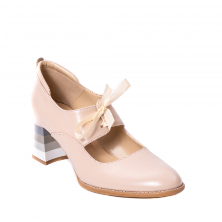 Pantofi dama piele naturala Nike Invest 327B, nude