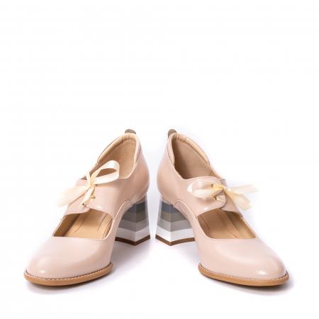 Pantofi dama piele naturala Nike Invest 327B, nude4