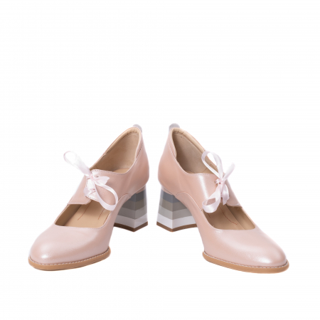 Pantofi dama piele naturala Nike Invest 327P8, nude-roze4