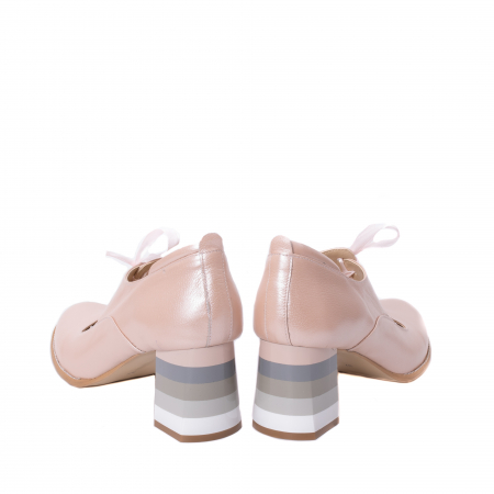 Pantofi dama piele naturala Nike Invest 327P8, nude-roze6