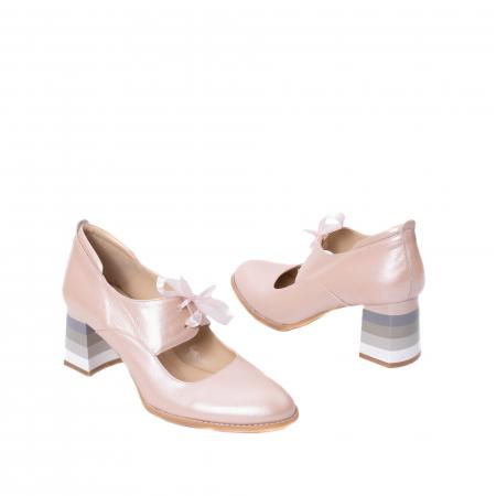 Pantofi dama piele naturala Nike Invest 327P8, nude-roze2
