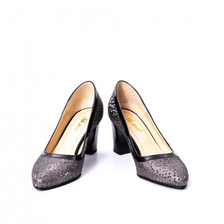 Pantofi dama piele naturala texturata Nike Invest 324 5CNL, negru-gri4