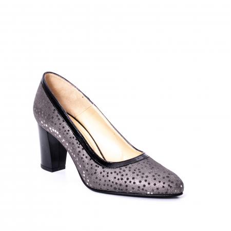 Pantofi dama piele naturala texturata Nike Invest 324 5CNL, negru-gri0