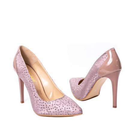 Pantofi dama piele naturala texturata Nike Invest 329 2CLB16, roz2