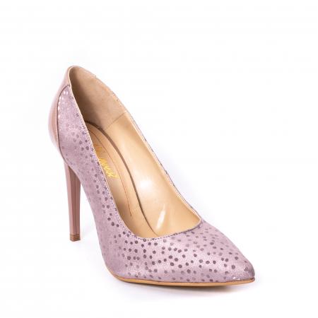 Pantofi dama piele naturala texturata Nike Invest 329 2CLB16, roz0