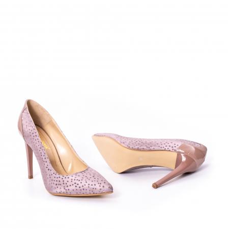 Pantofi dama piele naturala texturata Nike Invest 329 2CLB16, roz3