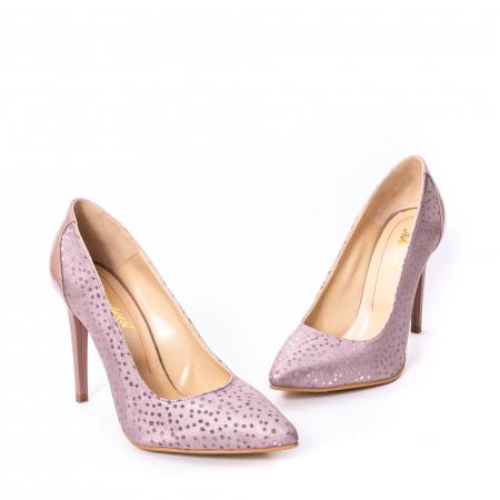 Pantofi dama piele naturala texturata Nike Invest 329 2CLB16, roz1