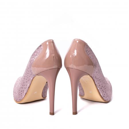 Pantofi dama piele naturala texturata Nike Invest 329 2CLB16, roz6
