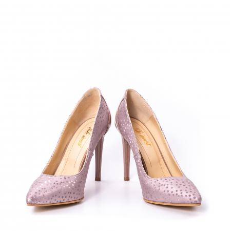 Pantofi dama piele naturala texturata Nike Invest 329 2CLB16, roz4