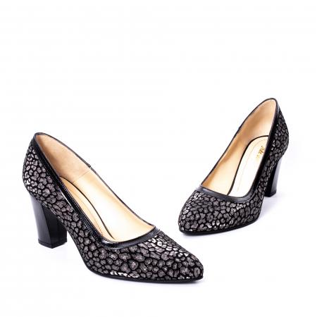 Pantofi dama piele naturala texturata Nike Invest 324PENL, negru1