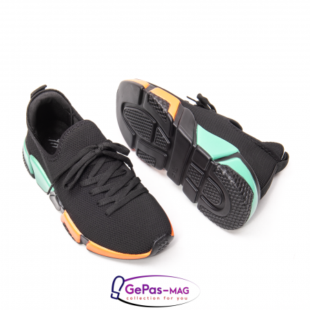 Pantofi dama sport din material textil, A6M044-029 01-T2