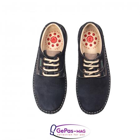 Pantofi de vara barbat, piele naturala, 9553 bleumarin5