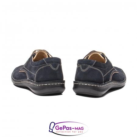 Pantofi de vara barbat, piele naturala, 9553 bleumarin [6]