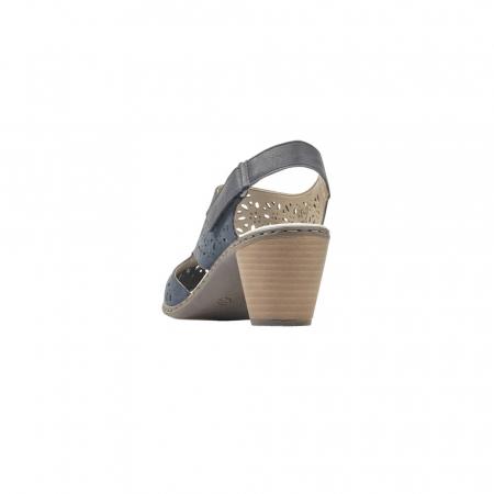 Pantofi dama eleganti de vara, piele naturala, RIK 40977-147