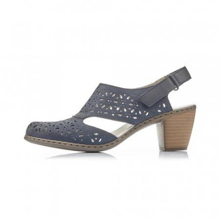 Pantofi dama eleganti de vara, piele naturala, RIK 40977-144