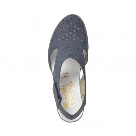 Pantofi dama eleganti de vara, piele naturala, RIK 40977-141