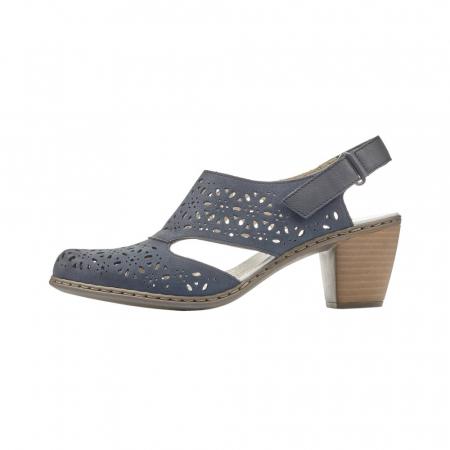Pantofi dama eleganti de vara, piele naturala, RIK 40977-146
