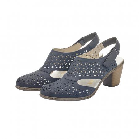 Pantofi dama eleganti de vara, piele naturala, RIK 40977-142