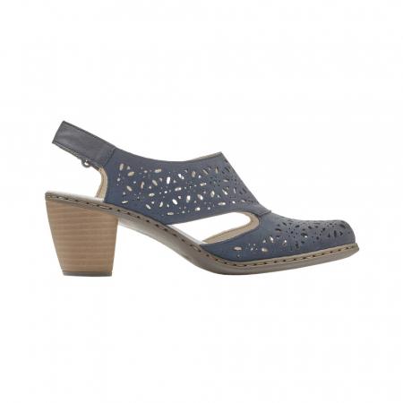 Pantofi dama eleganti de vara, piele naturala, RIK 40977-143