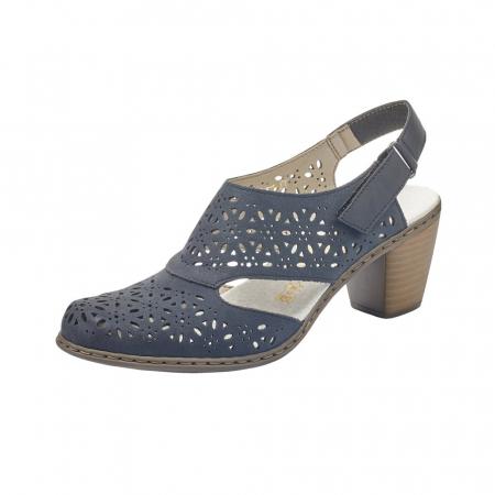 Pantofi dama eleganti de vara, piele naturala, RIK 40977-140