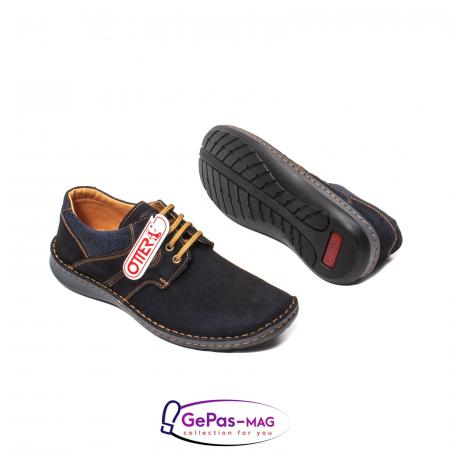 Pantofi de vara, piele intoarsa, OT 9560 42-I bleumarin [3]