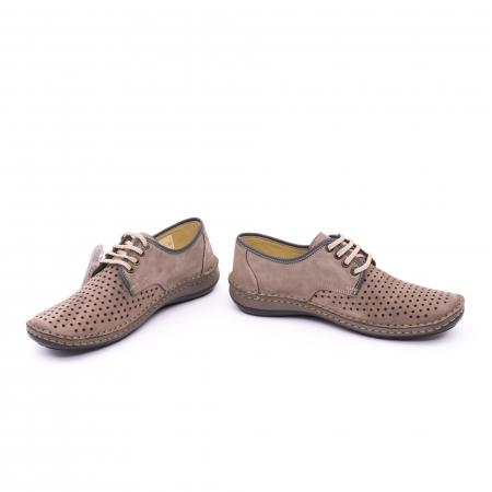 Pantofi de vara, piele naturala nabuc, OT 9558, gri [3]