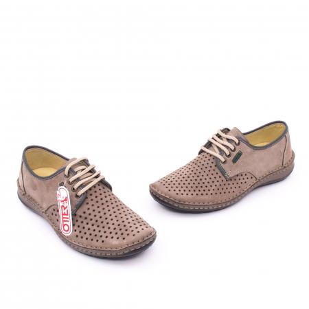 Pantofi de vara, piele naturala nabuc, OT 9558, gri [1]