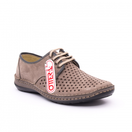 Pantofi de vara, piele naturala nabuc, OT 9558, gri [0]