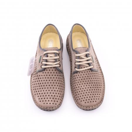 Pantofi de vara, piele naturala nabuc, OT 9558, gri [4]