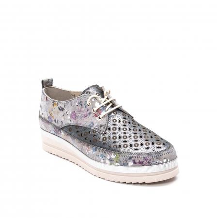Pantofi dama vara casual, piele naturala texturata, LFX 240, multicolor0