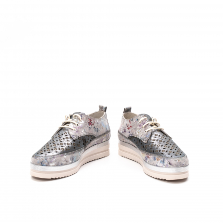 Pantofi dama vara casual, piele naturala texturata, LFX 240, multicolor4