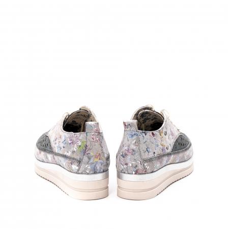Pantofi dama vara casual, piele naturala texturata, LFX 240, multicolor6