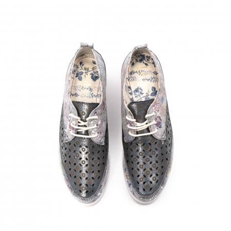 Pantofi dama vara casual, piele naturala texturata, LFX 240, multicolor5