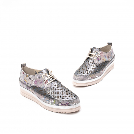 Pantofi dama vara casual, piele naturala texturata, LFX 240, multicolor1