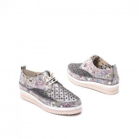 Pantofi dama vara casual, piele naturala texturata, LFX 240, multicolor2
