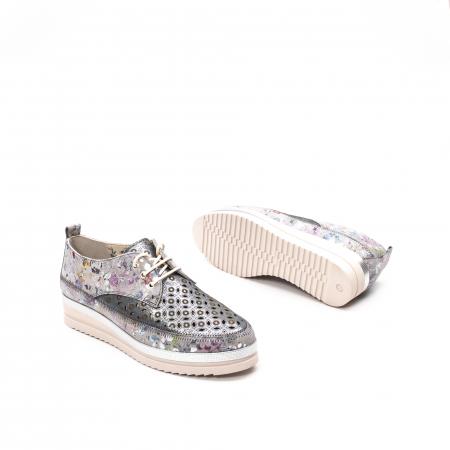 Pantofi dama vara casual, piele naturala texturata, LFX 240, multicolor3
