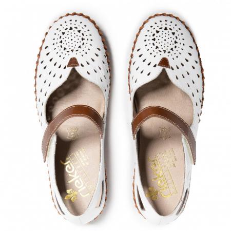 Pantofi decupati dama din piele naturala, N1657-80 [5]