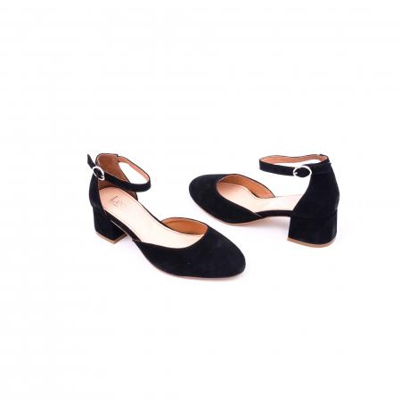 Pantofi decupati dama LFX  221 negru velur2