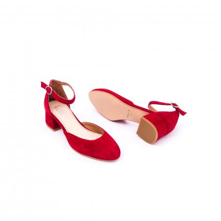 Pantofi decupati dama LFX 221 rosu velur3